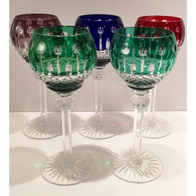 """Vintage """"King Louis"""" Stem Glasses - S/5 - Image 2 of 6"""