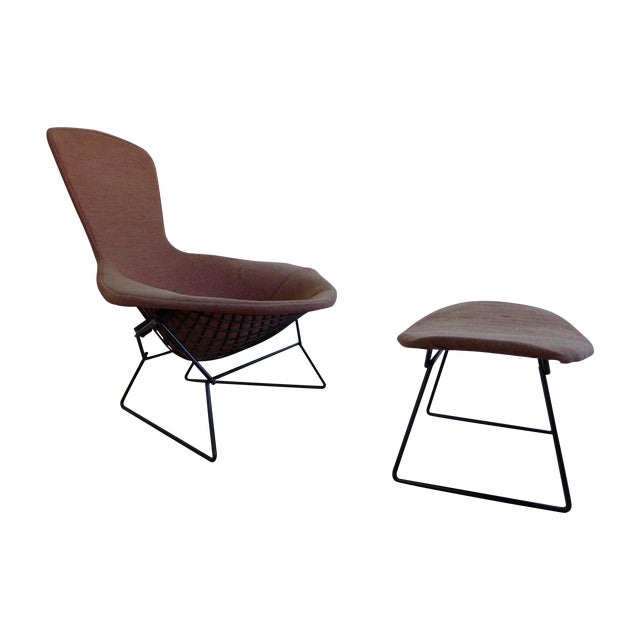 Harry Bertoia Bird Lounge Chair and Ottoman - Image 1 of 9