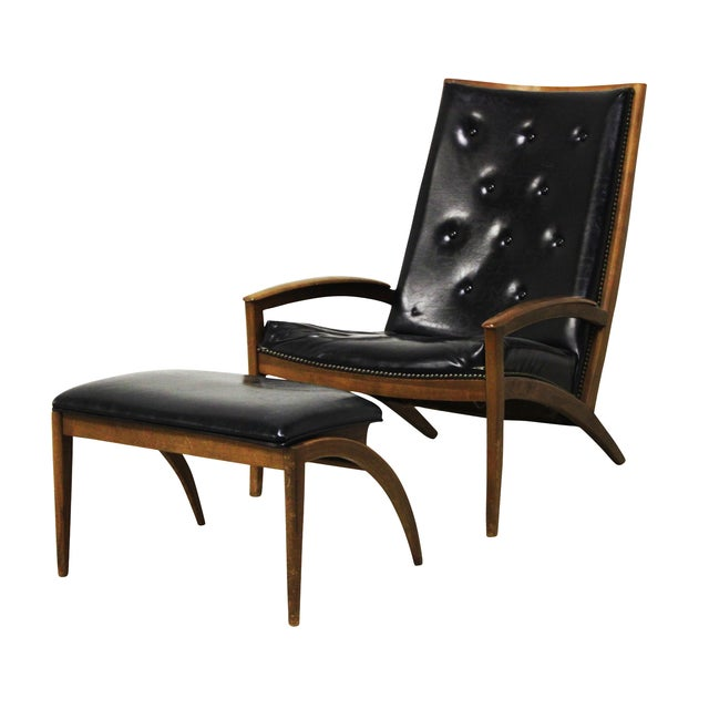Image of Lounge Chair & Ottoman Barney Flagg for Drexel