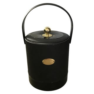 Georges Briard Black Patent Ice Bucket