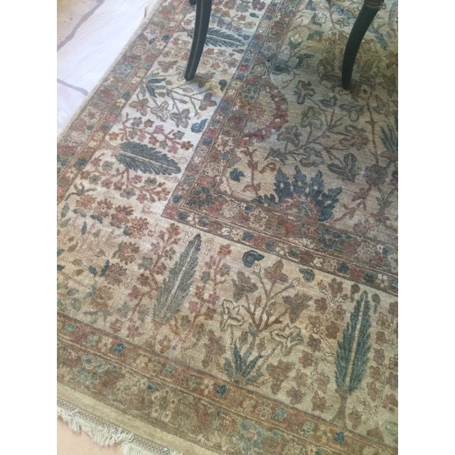 """Handknotted Rust & Teal Wool Area Rug- 10' x 17'8"""" - Image 8 of 8"""