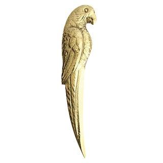 Brass Parrot Letter Opener