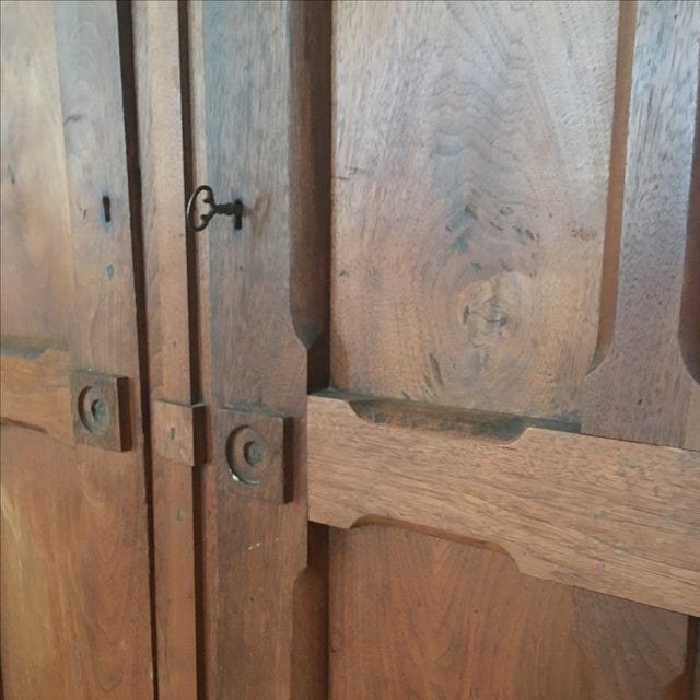 Antique 1800s Walnut Wardrobe Armoire - Image 3 of 7