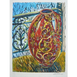 """""""Red Vase"""" Colorful Print"""