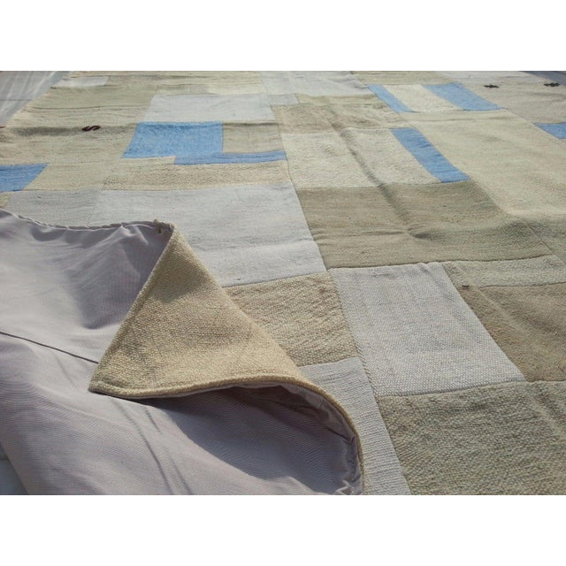 "Turkish Patchwork Overdyed Rug -- 5'1"" x 7'8"" - Image 6 of 6"