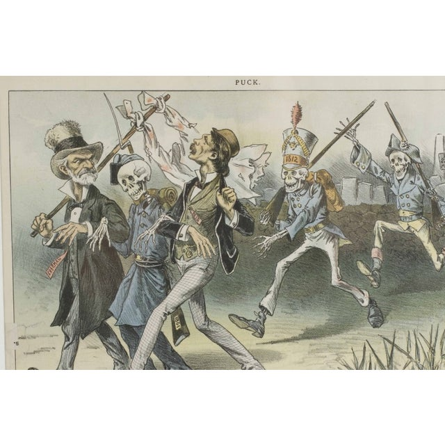 1888 Puck Political Cartoon Chromoliths - A Pair - Image 2 of 9