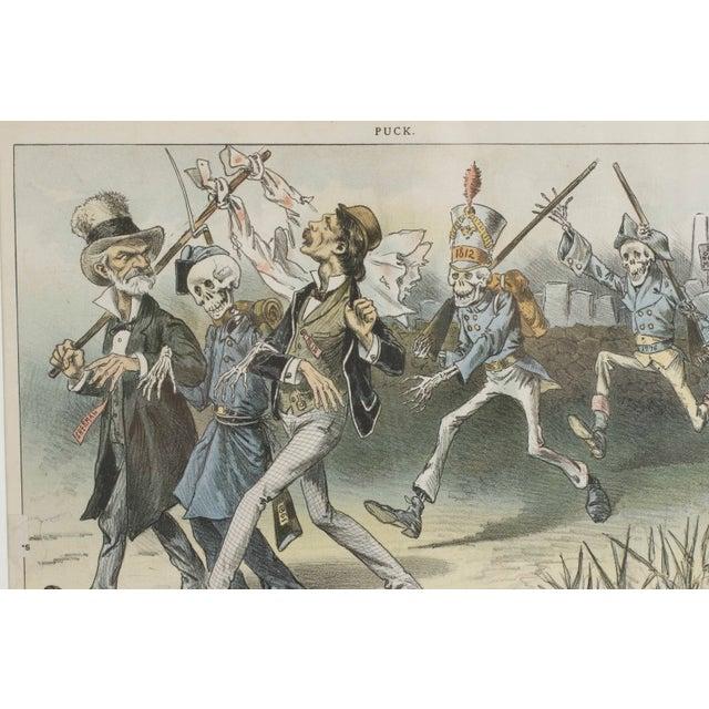 Image of 1888 Puck Political Cartoon Chromoliths - A Pair