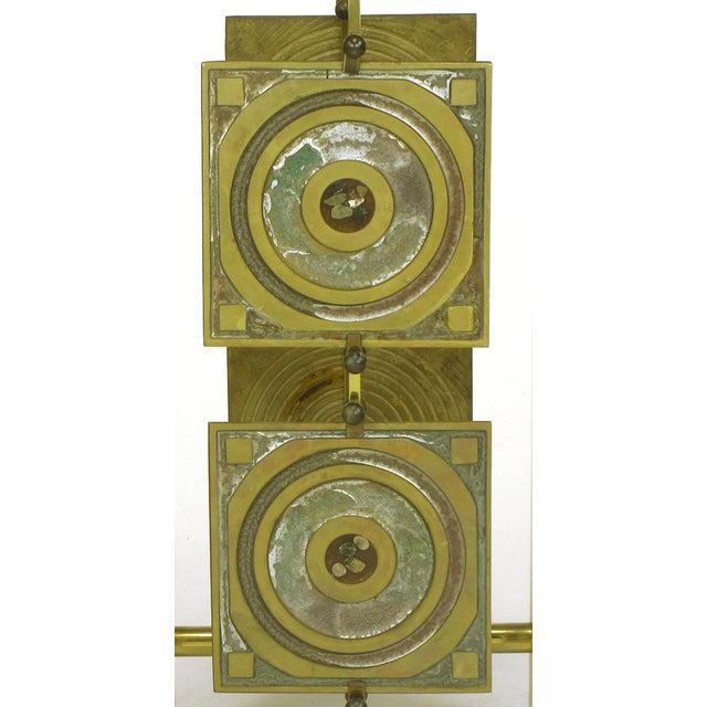 Postmodern Enameled Brass Panel Studio Side Table - Image 10 of 10