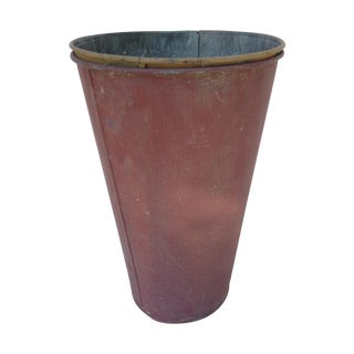 Vintage Painted Sap Bucket