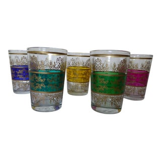 French Vintage Mod Glasses - Set of 5