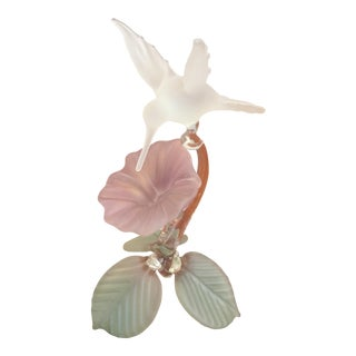 Hummingbird Blown Glass Figurine