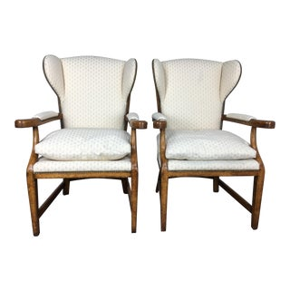 Minton-Spidell English Barber Chairs - a Pair