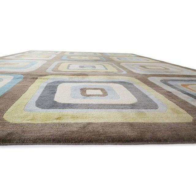 """Angela Adams Geometric Custom Wool Area Rug - 10' x 13'2"""" - Image 4 of 7"""