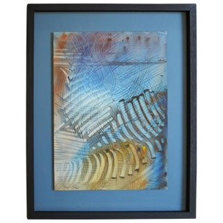 Barry Bleach Rhythmic Abstract Watercolor Painting