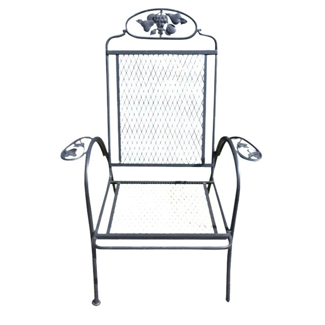 Vintage Outdoor Woodard Armchair - Image 1 of 5