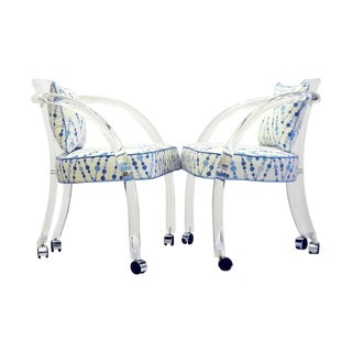 David Hicks Lucite Chairs - Pair