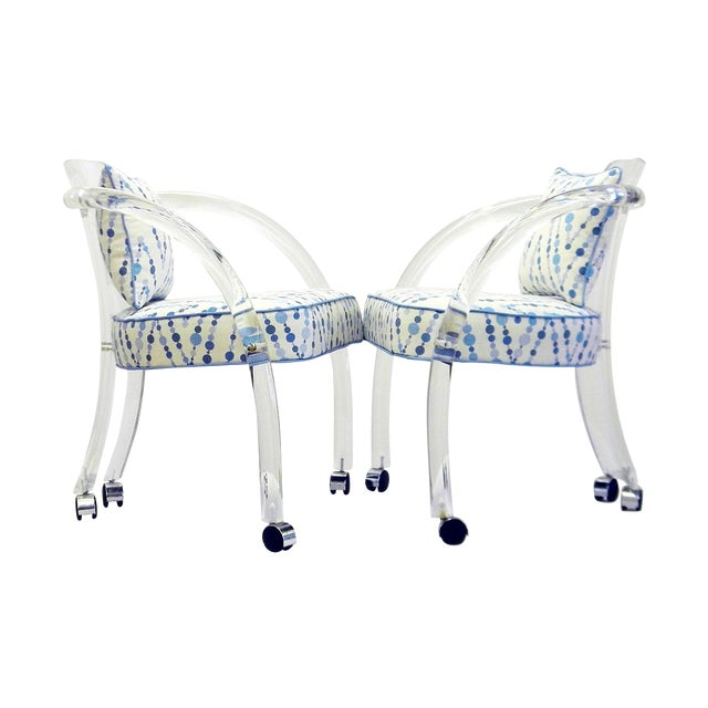Image of David Hicks Lucite Chairs - Pair