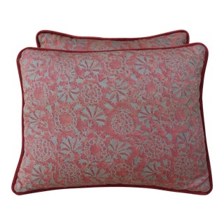Vintage Fortuny Textile Pillows - a Pair