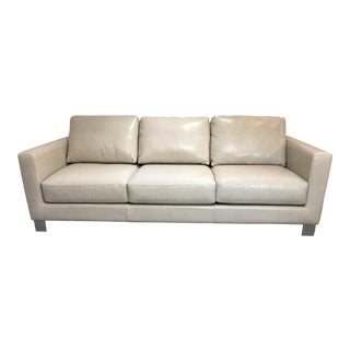 American Leather Alessandro Flagstaff Parchment Leather Sofa