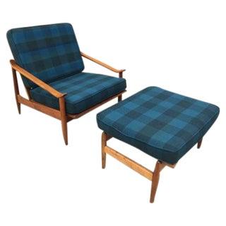 Milo Baughman Lounge Chair and Ottoman Set