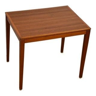 Silberg Danish Modern Teak End Table