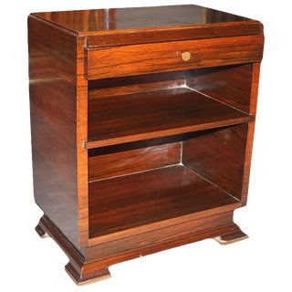 1940s Vintage Maxime Old French Art Deco Palisander Nightstand