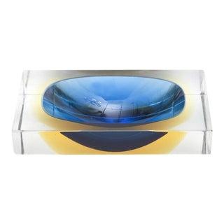 Italian Murano Sommerso Flavio Poli Glass Bowl/ Vide Poche
