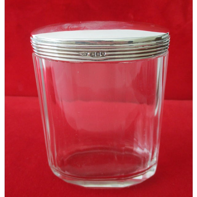 Asprey Glass Jar With Sterling Silver Top - Image 7 of 7