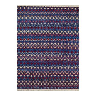 "Moroccan Arya Kip Purple & Blue Wool Rug - 9'3"" x 12'3"""
