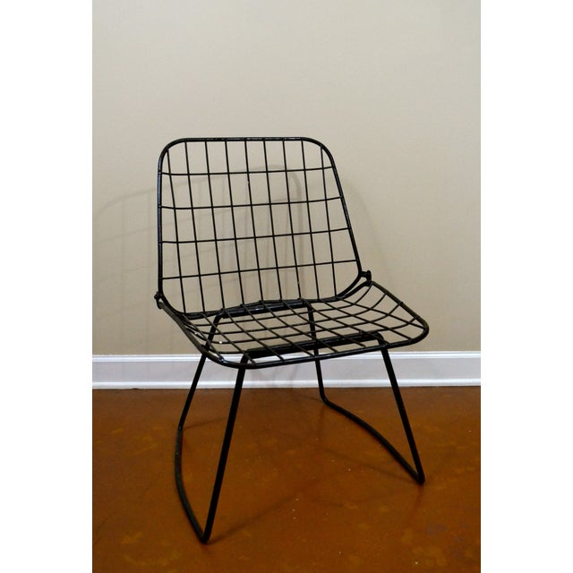 Vintage Danish Modern Wire Side Chair - Image 2 of 10
