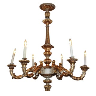 Antique French GiltWood Chandelier