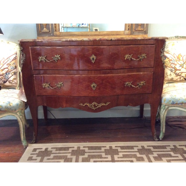 Louis XV Style Parquetry Commode - Image 2 of 8