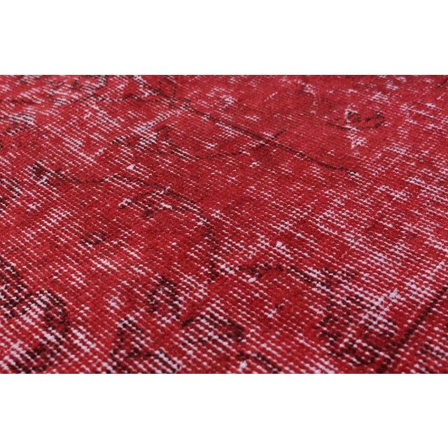 "Image of Red Vintage Turkish Overdyed Rug - 6'8"" X 8'11"""