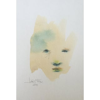 Watercolor Abstract Face