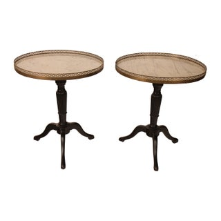 French Louis XVI Marble Side Tables - A Pair