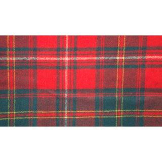 Vintage Plaid Soft Wool Fabric - 1.5 Yards x 1.7 Yards