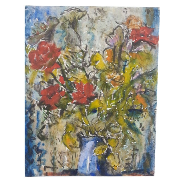 Wildflower Watercolor by A. Prust - Image 1 of 2