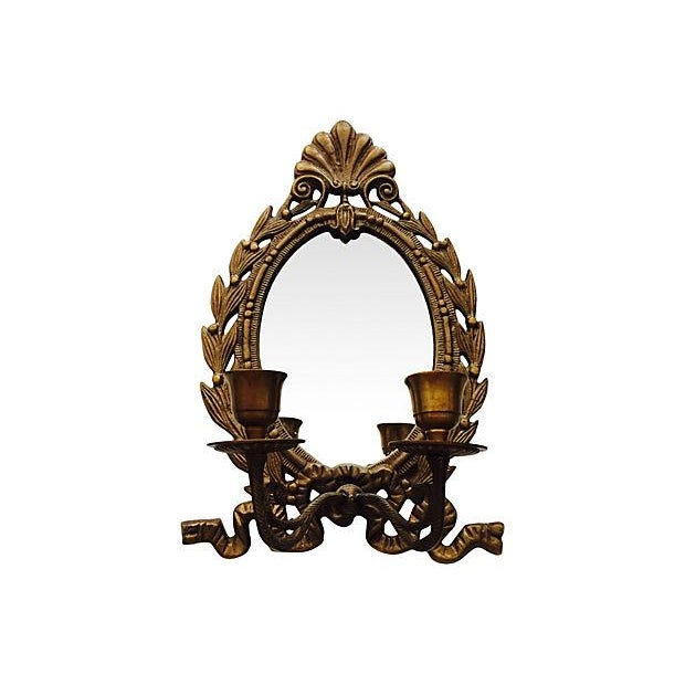 Image of French Mirrored Candle Wall Sconce