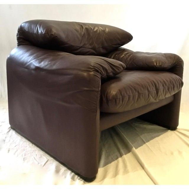 Cassina italian leather chair chairish for Cassina italy
