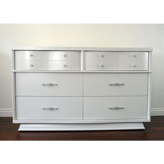 Retro Gray Glossy Dresser   Image 2 of 7. Retro Gray Glossy Dresser   Chairish
