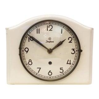 Mid-Century Ceramic Wall Clock by Junghans
