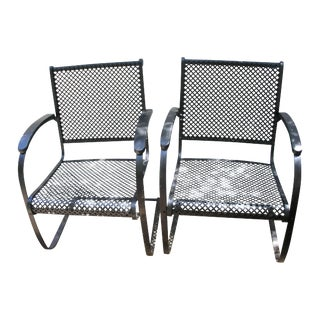 Vintage Steel Garden Bouncer Chairs - A Pair