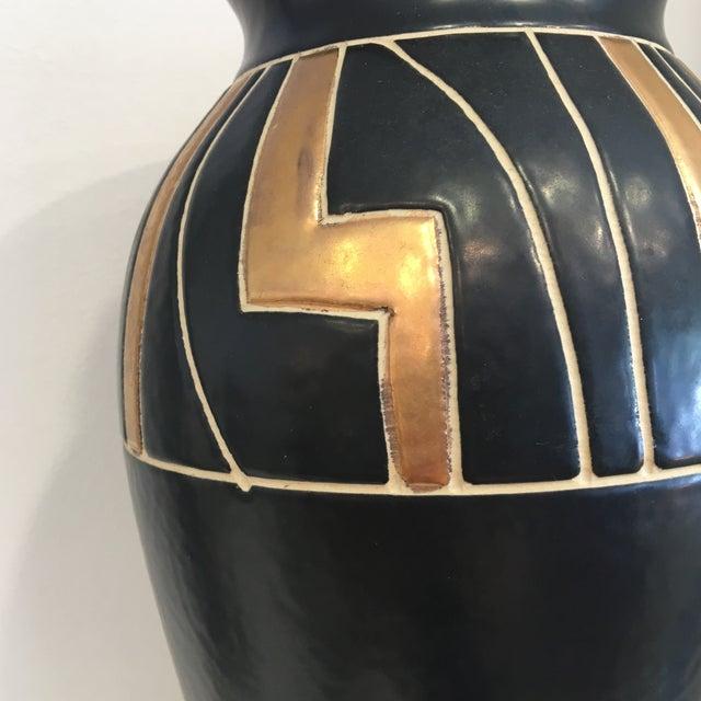 Vintage Black Ceramic Urn - Image 6 of 6