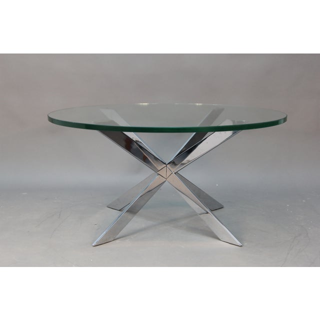 Leon Rosen for Pace Chrome Star Base Coffee Table - Image 3 of 6