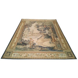 French Aubusson Tapestry Hand-Knotted Rug - 6′ × 8′
