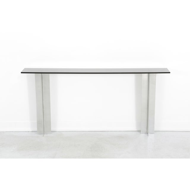 Pace Smoked Glass Console Table - Image 4 of 6