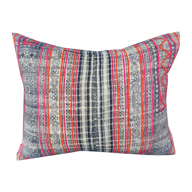 Hmong Tribal Batik Pillow - Image 1 of 7