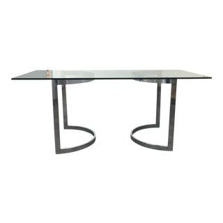 Mid-Century Chrome & Glass Table