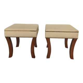Upholstered Stools - A Pair