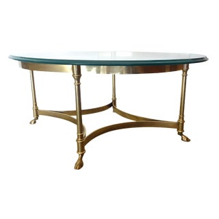 La Barge Italian Brass & Glass Cocktail Table